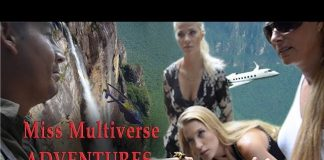 Miss Multiverse GIRLS DEFY DANGER on tallest water fall of the world