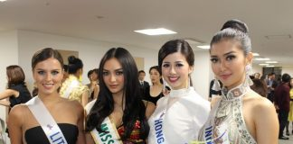 Who stood out at the Miss International 2017 welcome party?