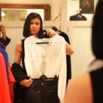 Rebecca Dimitrov shopping at Wesson Boutique