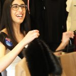 Talia Simone shopping at Wesson Boutique