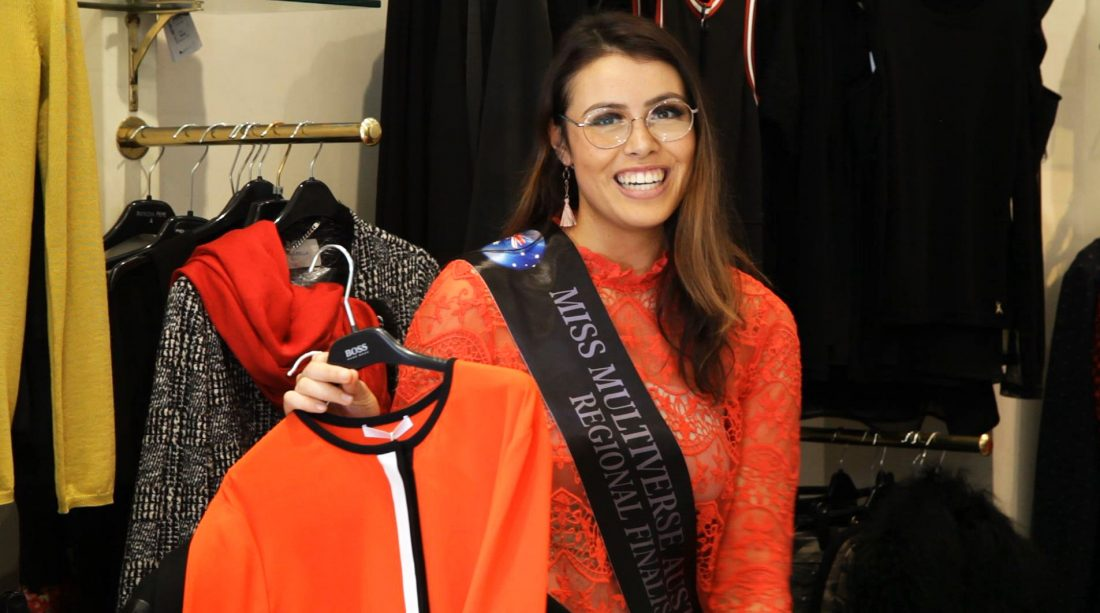 Enya McKernon shopping at Wesson Boutique