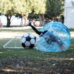 Bubble soccer with Green Frog Adventures